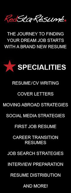 The Journey to finding your dream job starts wid a brand new resume, Specialities: Resume/CV writing, cover letters, moving abroad strategies, social media trategies, firs job resume, career transition resumes, job search strategies, interview preparation, resume distribution.