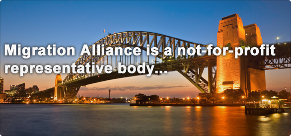 Migration Alliance is a not-for-profit representative body